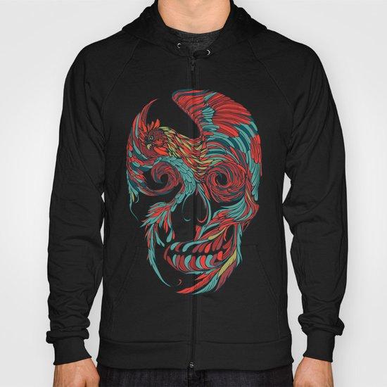 Rooster Skull Hoody