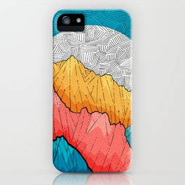 The crosshatch peaks iPhone Case