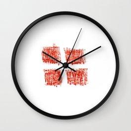 flag Switzerland 5-,Swiss,Schweizer, Suisse,Helvetic,zurich,geneva,bern,godard,heidi Wall Clock