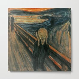 Classic Art - The Scream - Edvard Munch Metal Print