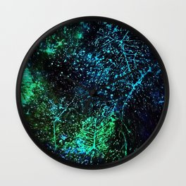 Intergalactic Leaves Wall Clock