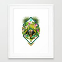 kris tate Framed Art Prints featuring ▲ TROPICANA ▲ by KRIS TATE x BOHEMIAN BLAST by ▲ BOHEMIAN BLAST ▲