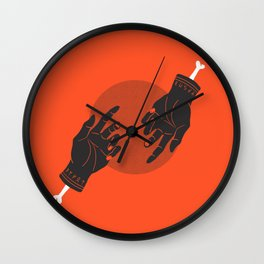 red rune hands Wall Clock