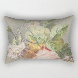 Georgius Jacobus Johannes van Os - Flower arrangement - 1800/1825 Rectangular Pillow
