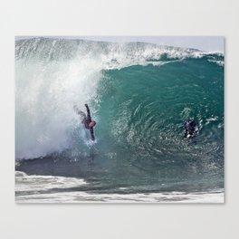 Bodysurfing Newport Wedge  4-30-13 / JT  Canvas Print