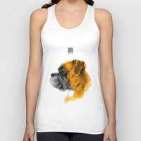boxer Tank Tops featuring Boxer by Det Tidkun
