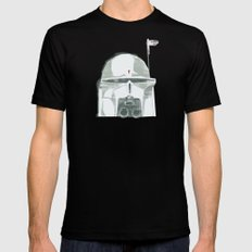 Ralph McQuarrie concept Boba Fett Mens Fitted Tee Black 2X-LARGE