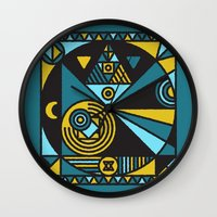 witchcraft Wall Clocks featuring Witchcraft Alchemist by thedeadprocession