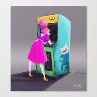 princess bubblegum Canvas Prints featuring Princess Bubblegum  by Melany Altuna