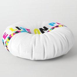 We Live on Paper Floor Pillow