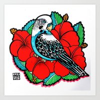 Budgie Art Print