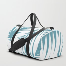 Palm Tree Fronds White on Soft Blue Hawaii Tropical Décor Duffle Bag
