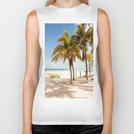 Tropical beach Biker Tank