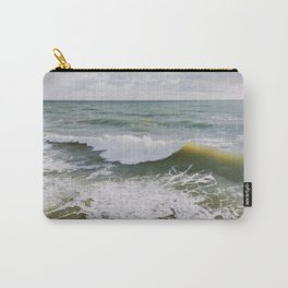 Yellow Wave Carry-All Pouch