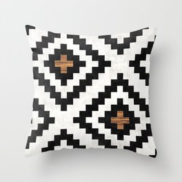 Urban Tribal Pattern No.16 - Aztec - Concrete and Wood Throw Pillow