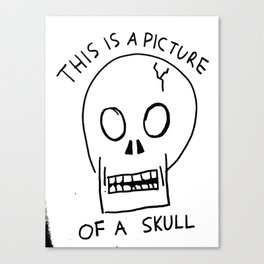 A Picture of a Skull Canvas Print