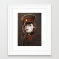 captain Framed Art Prints featuring Captain by shugmonkey