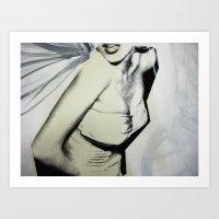 Wings on Marilyn Art Print