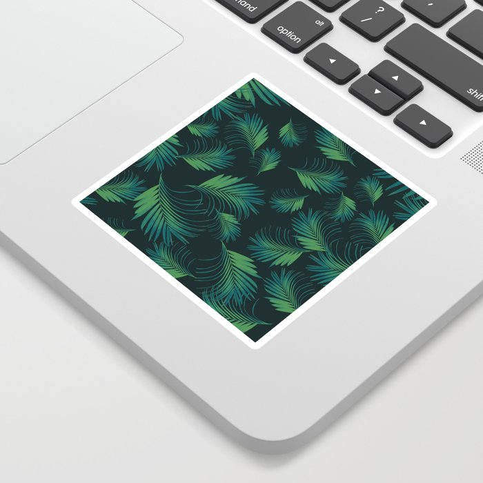 Tropical Night Palms Pattern #1 #tropical #decor #art #society6 Sticker