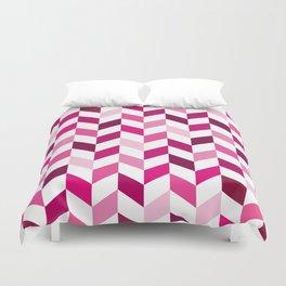 Pink Pattern Herringbone Design Duvet Cover