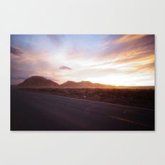 Sunset - Monument Valley Canvas Print