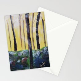 Good Luck Series: Sunny Forest Abstract Stationery Cards