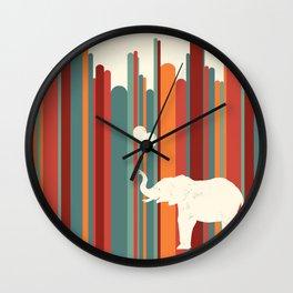 Elephants Play Wall Clock