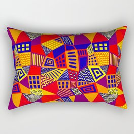 Segmented Abstract 070717 - Colors 01 Rectangular Pillow
