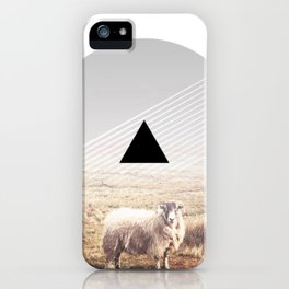 Sheep - triangle graphic iPhone Case
