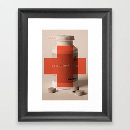 Neue Helvetica Framed Art Print
