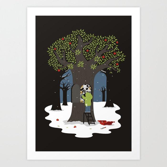 Dissolute tree Art Print