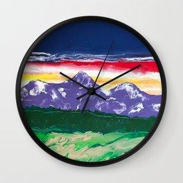 Purple mountains majesty Wall Clock