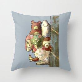 kawaii squad sloth catcorn unicat and friends! Throw Pillow