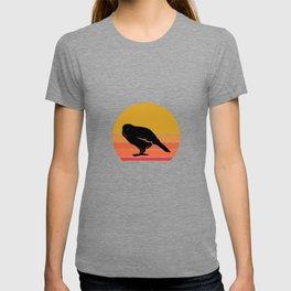 Retro Sun Kakapo Bird Gift Idea T-shirt