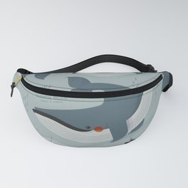 Blue Whale, Antartica Wildlife Fanny Pack