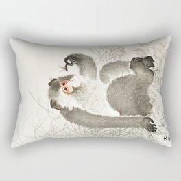 The monkey an the Fly Rectangular Pillow