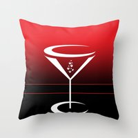 martini Throw Pillows featuring martini by daniel