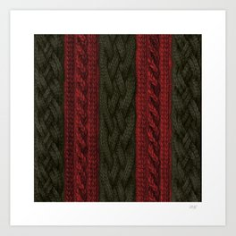 Cable Knit Stripe Art Print