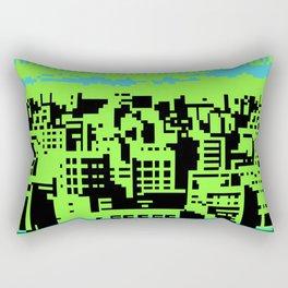 cityscape 07A (C64 remix) (2011) Rectangular Pillow