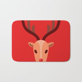 Santa's Reindeer Bath Mat