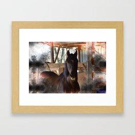 Rustic Horse Framed Art Print