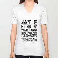 jay z V-neck T-shirts featuring Eye Test - JAY Z by Studio Samantha