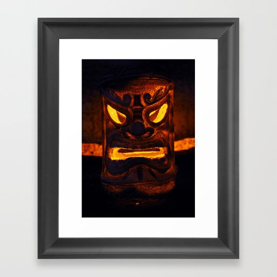 Tiki night Framed Art Print