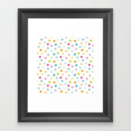 Chickweed Mid Dots Framed Art Print