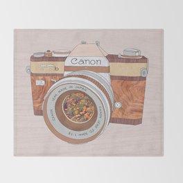 WOOD CAN0N Throw Blanket