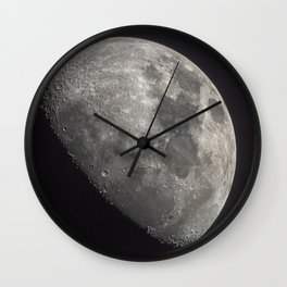 Waxing Gibbous Moon Wall Clock