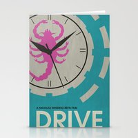 movie posters Stationery Cards featuring Drive - Minimalist Movie Poster by Minimalist Movie Posters