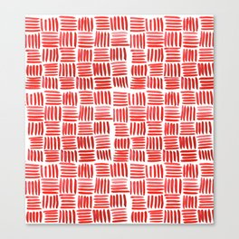 Red Parquet Canvas Print