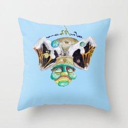 Meditate (blue sky) Throw Pillow
