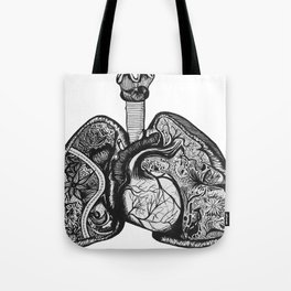 Runner's Lungs Tote Bag